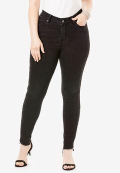 Side-Stripe Skinny Jean By Denim 24/7®, BEADING STRIPE