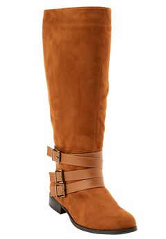 Berk Tall Calf Boots by Comfortview, COGNAC, hi-res