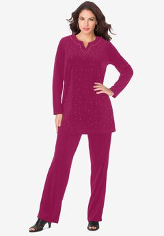 Velour Tunic & Pant Set,