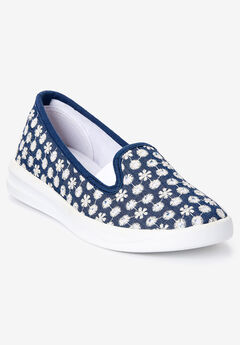 The Dottie Sneaker , DENIM EYELET
