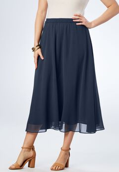 Long Georgette Skirt,