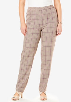 Bend Over® Classic Pant, BEIGE PLAID