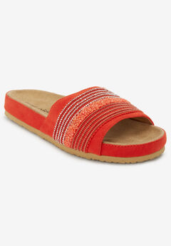 The Baylor Footbed Sandal by Comfortview®, CORAL
