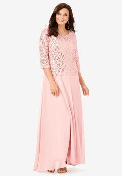 Lace Popover Dress, PALE BLUSH