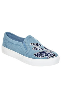 Skyla Sneakers by Comfortview®, LIGHT DENIM