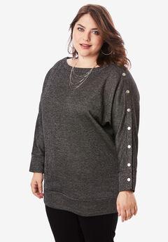 Shimmer Boatneck Sweatshirt,