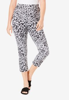 Essential Stretch Capri Legging, HEATHER WILD ANIMAL