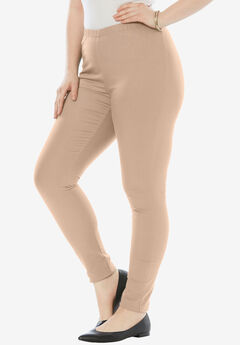 Skinny Pull-On Stretch Jegging by Denim 24/7®, NEW KHAKI