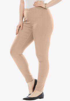 Skinny Pull-On Stretch Pant by Denim 24/7®, NEW KHAKI