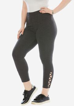 Stretch Crop Lattice Legging,