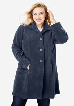 Plush Fleece Jacket, NAVY