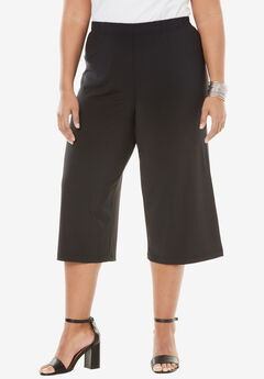 Wide Leg Culotte, BLACK, hi-res