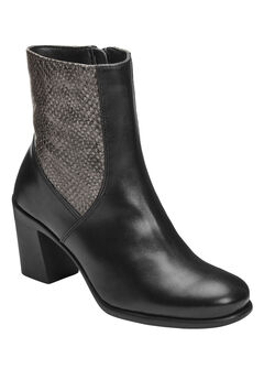 Hole Of Fame Booties by Aerosoles®, BLACK LEATHER