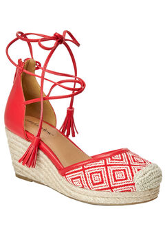 Ryann Espadrilles by Comfortview®, RED NATURAL, hi-res