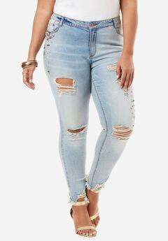 Pearl Skinny Jean, LIGHT STONEWASH, hi-res