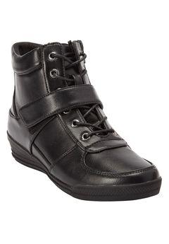 Sam Sneaker Booties by Comfortview, BLACK, hi-res
