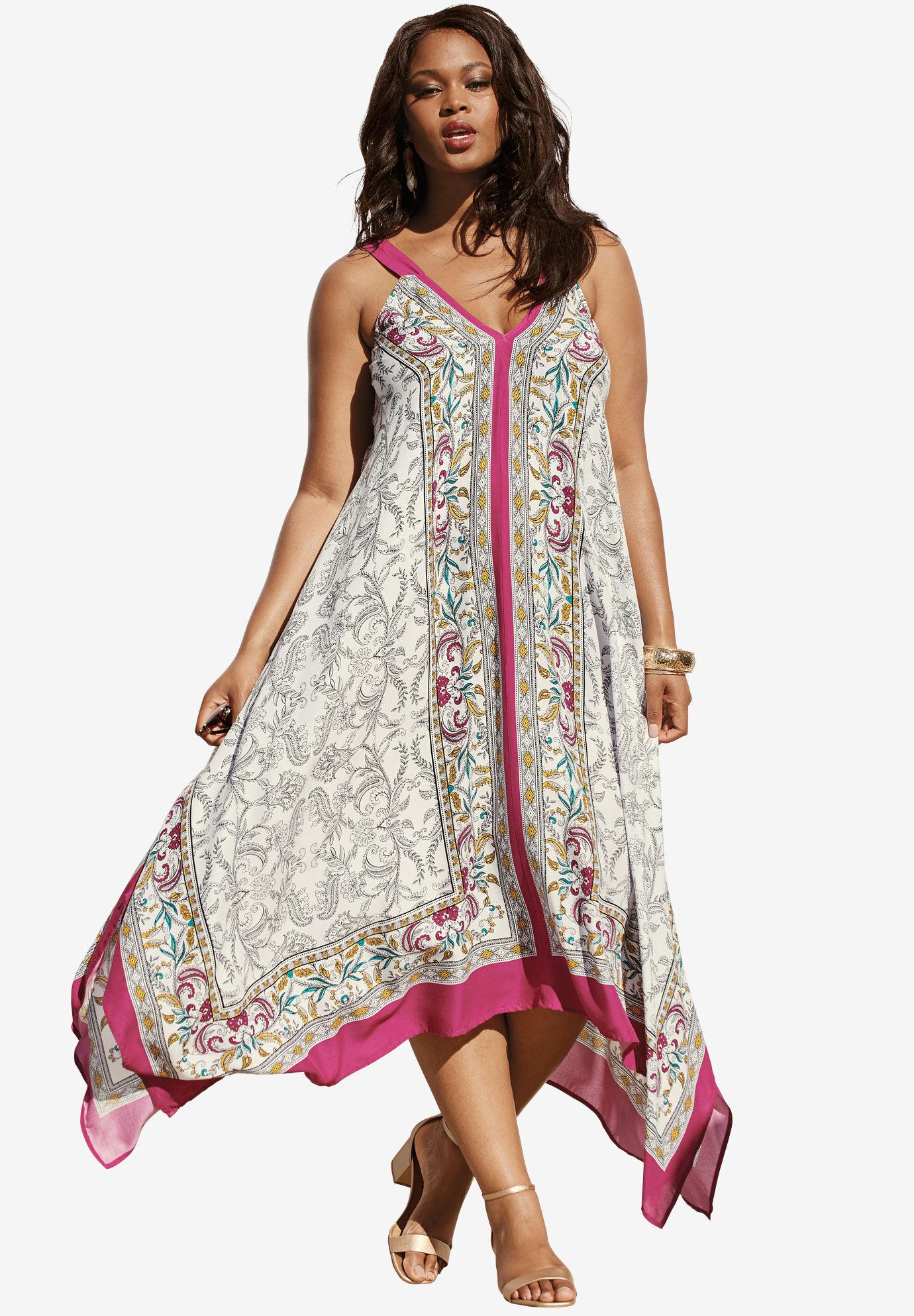 Definitions rose print maxi dress