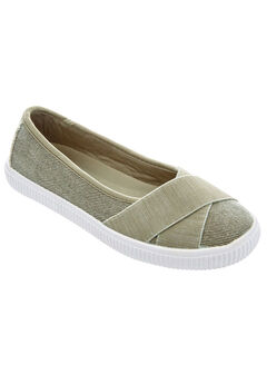 Jazlyn Slip-Ons by Comfortview®, OLIVE