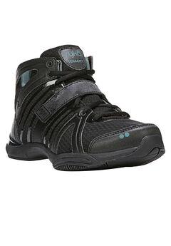 Tenacity High Top Sneakers by Ryka®, BLACK GREEN, hi-res