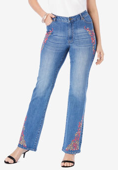 Embroidered Bootcut Jeans by Denim 24/7®,