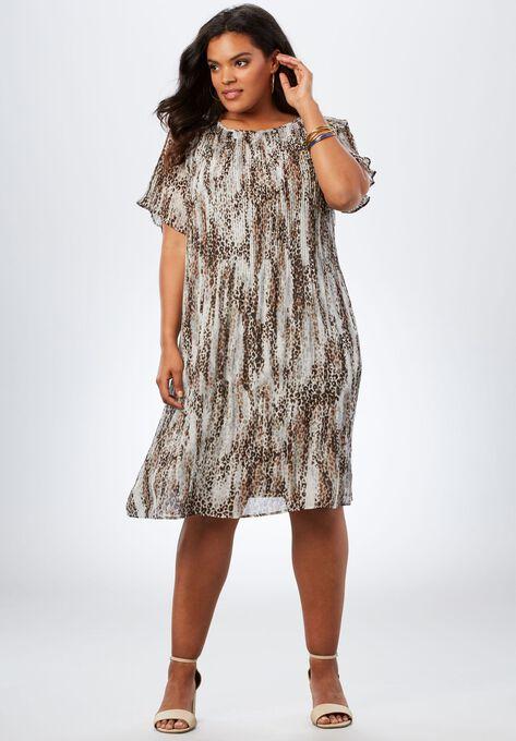Pleated Dress| Plus Size Dresses | Roaman\'s