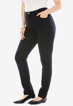 Ultimate Ponte 5-Pocket Pant, BLACK