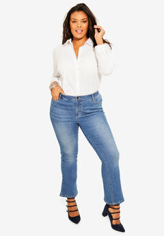 Crop Flare Jean by Denim 24/7®,