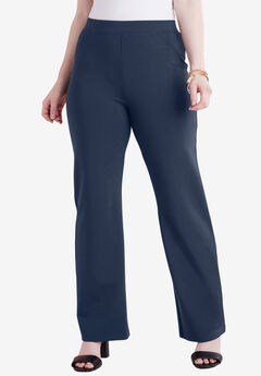Wide-Leg Ultimate Ponte Pant, NAVY