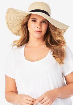 Wide Brim Straw Hat,