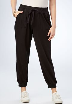 Crop Soft Knit Jogger,