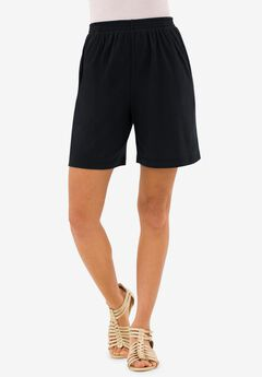 Soft Knit Short, BLACK