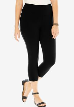 Control Cropped Leggings, BLACK, hi-res