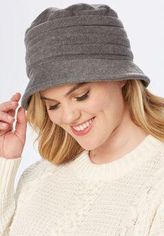 Fleece Hat, HEATHER GREY, hi-res