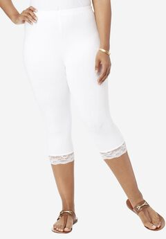Lace-Trim Capri,