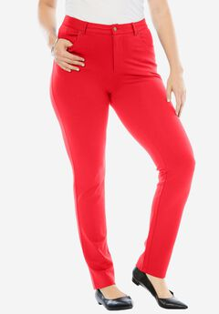 Ultimate Ponte 5-Pocket Pant, HOT RED