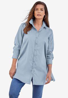 Kate Tunic Big Shirt, PALE BLUE