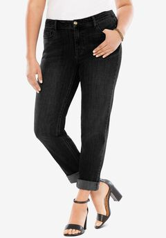 Boyfriend Jean with Invisible Stretch®, BLACK DENIM
