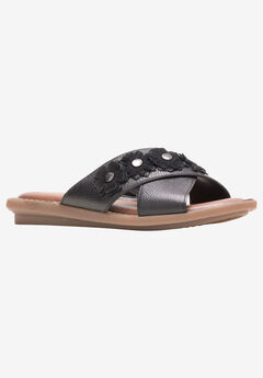 Olive X-Band Slide Sandal by Hush Puppies®,