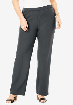 Wide-Leg Bend Over® Pant, DARK CHARCOAL