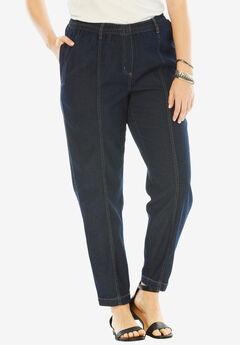 Kate Elastic Waist Jeans, INDIGO, hi-res