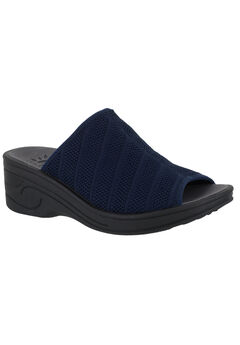 Airy Sandals by Easy Street®, NAVY STRETCH, hi-res