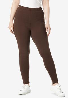 Ankle-Length Essential Stretch Legging, RICH BROWN