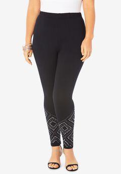 Geometric-Studded Legging,