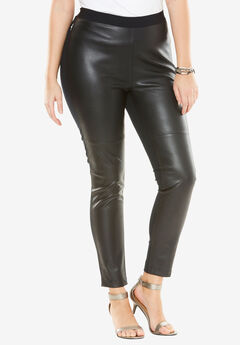 Faux Leather Legging, BLACK