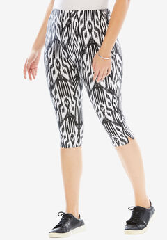 Printed Capri Leggings,