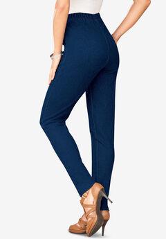 Skinny-Leg Pull-On Stretch Jean, INDIGO WASH