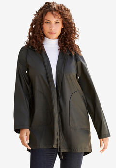 Anorak Raincoat, BLACK