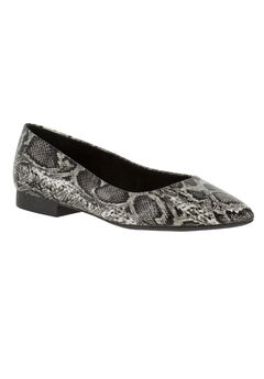 Vivien II Flat by Bella Vita®, BLACK WHITE SNAKE, hi-res