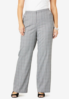 Suiting Wide-Leg Trouser, GRAY PLAID