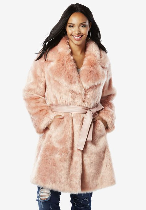 4273fd674c2 Belted Full-Length Faux-Fur Coat By Donna Salyers Fabulous Furs ...